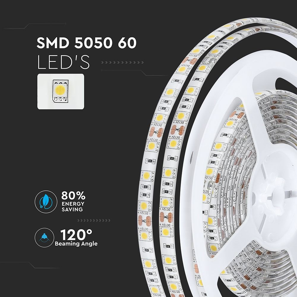 Banda LED SMD5050 - 10 W/m 60 LED/m 4000K IP65