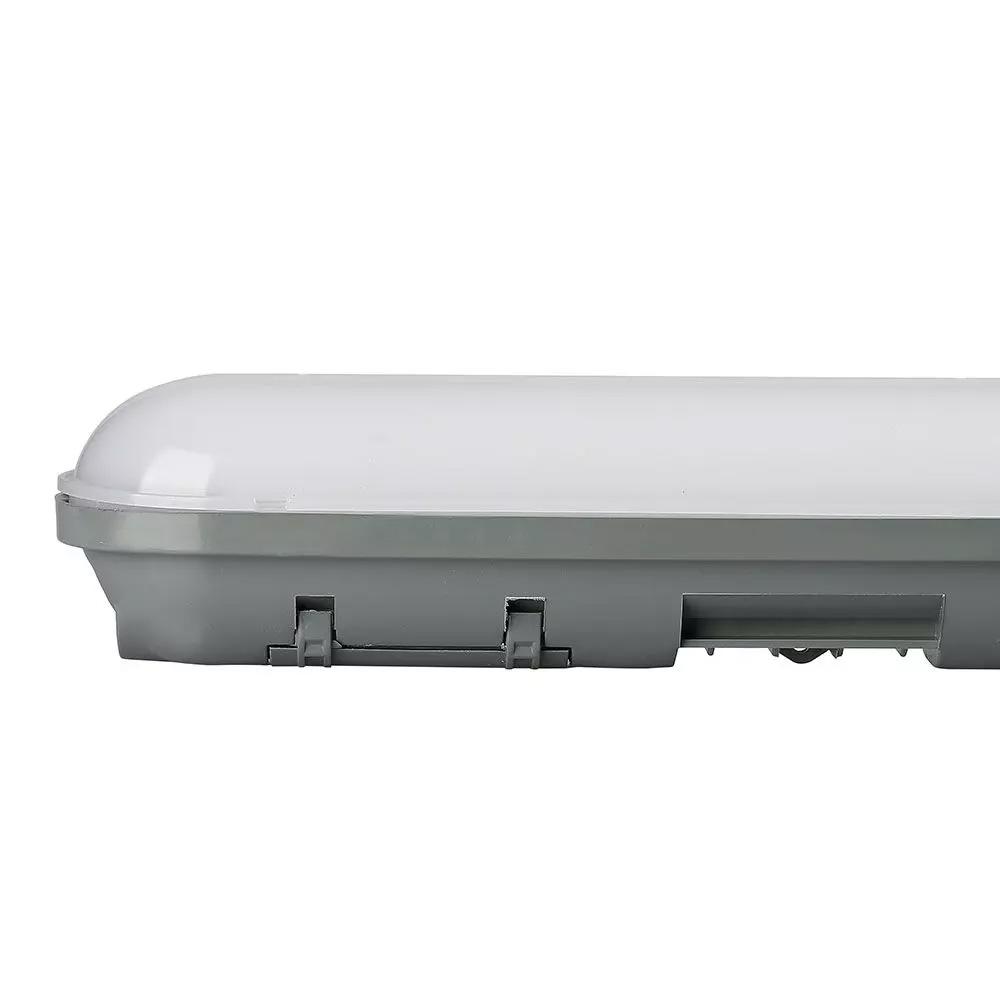 Lampa LED 18W impermeabila Liniara Policarbonat, IP65, 600mm, Alb Rece 6500K