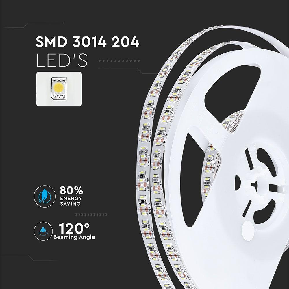 Banda LED SMD3014 -18W/m, 204 LED/m 3000K IP20
