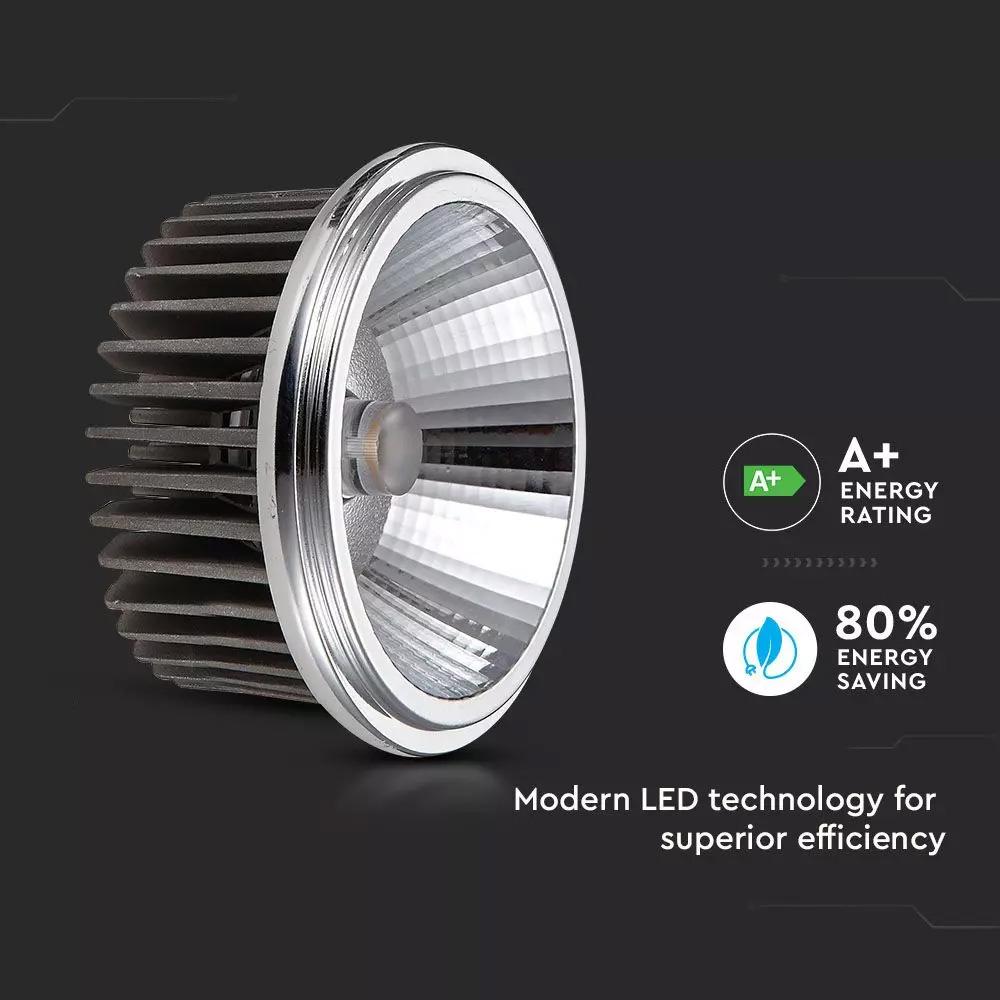 Bec LED Spot - AR111, 20W, 230V, Unghi 40, COB Chip 2700K