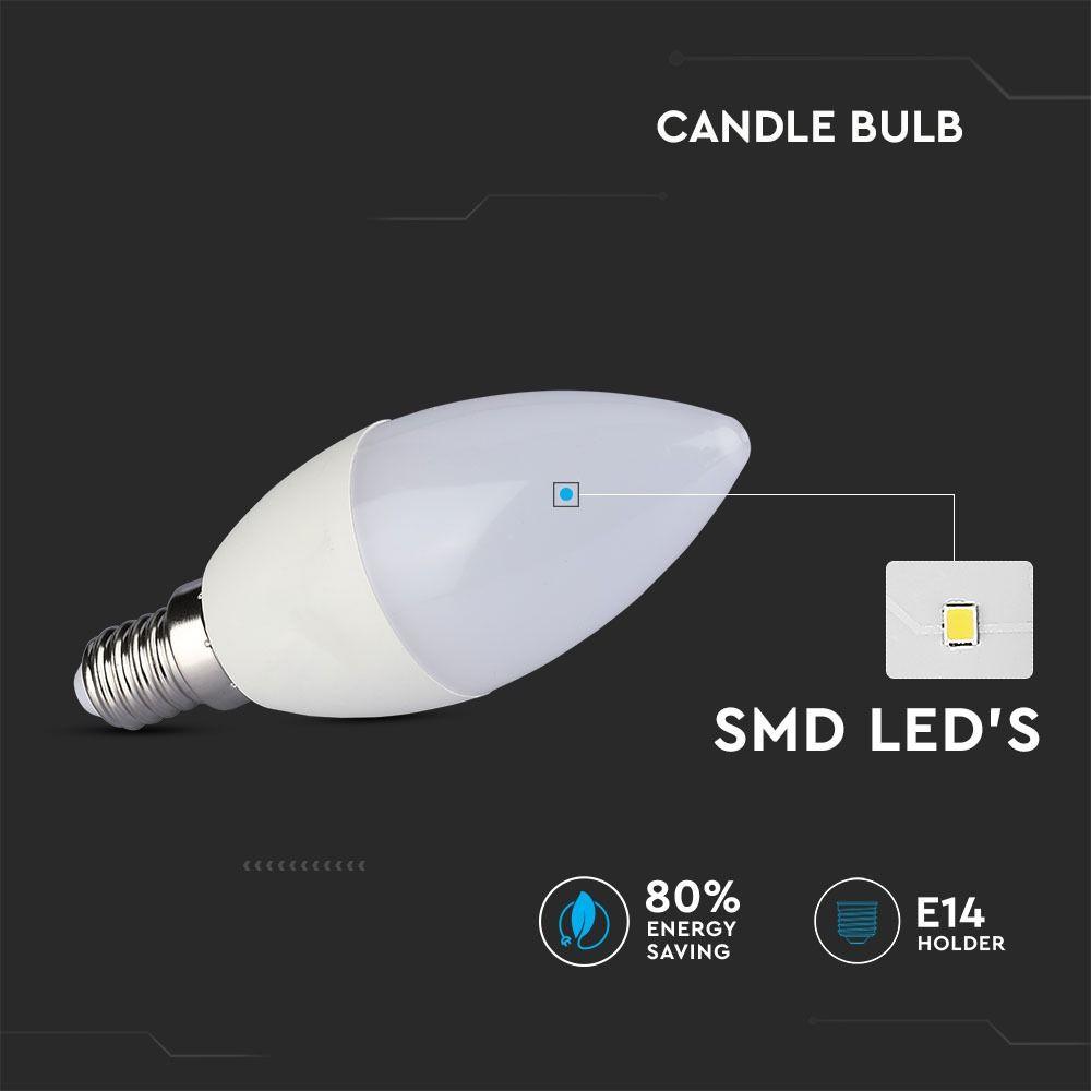 Bec LED - 4W, E14, Candle, 6000K