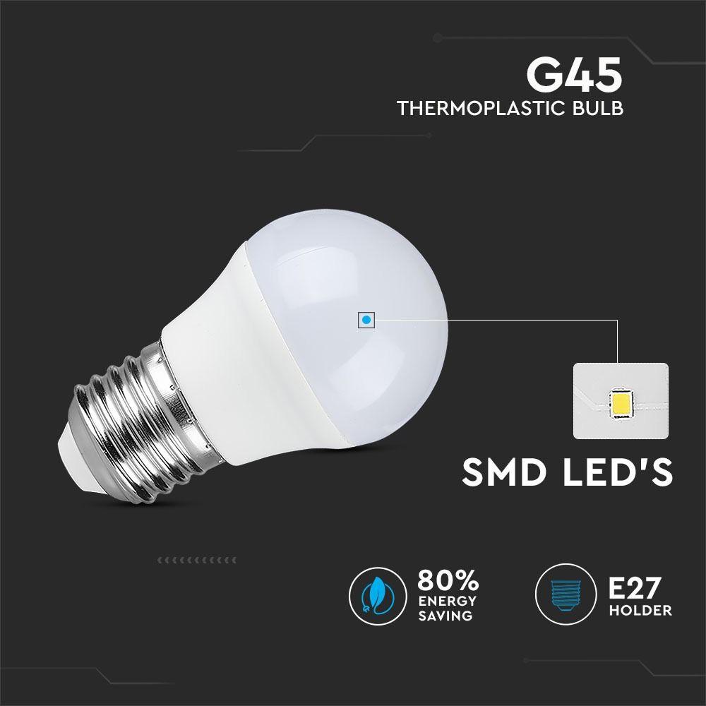 Bec LED - 4W, E27, G45, 4500K