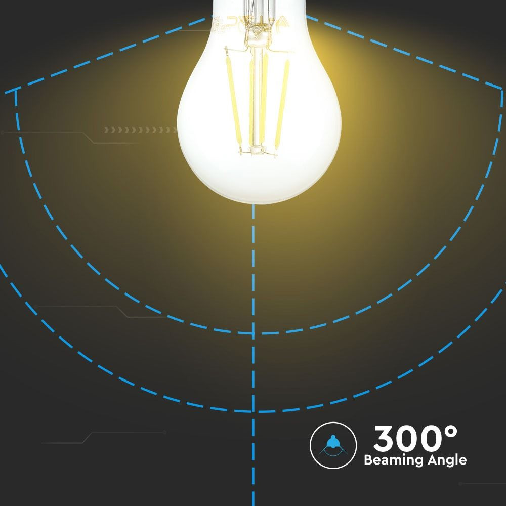 Bec LED - 8W, Filament, E27, A67, 2700K