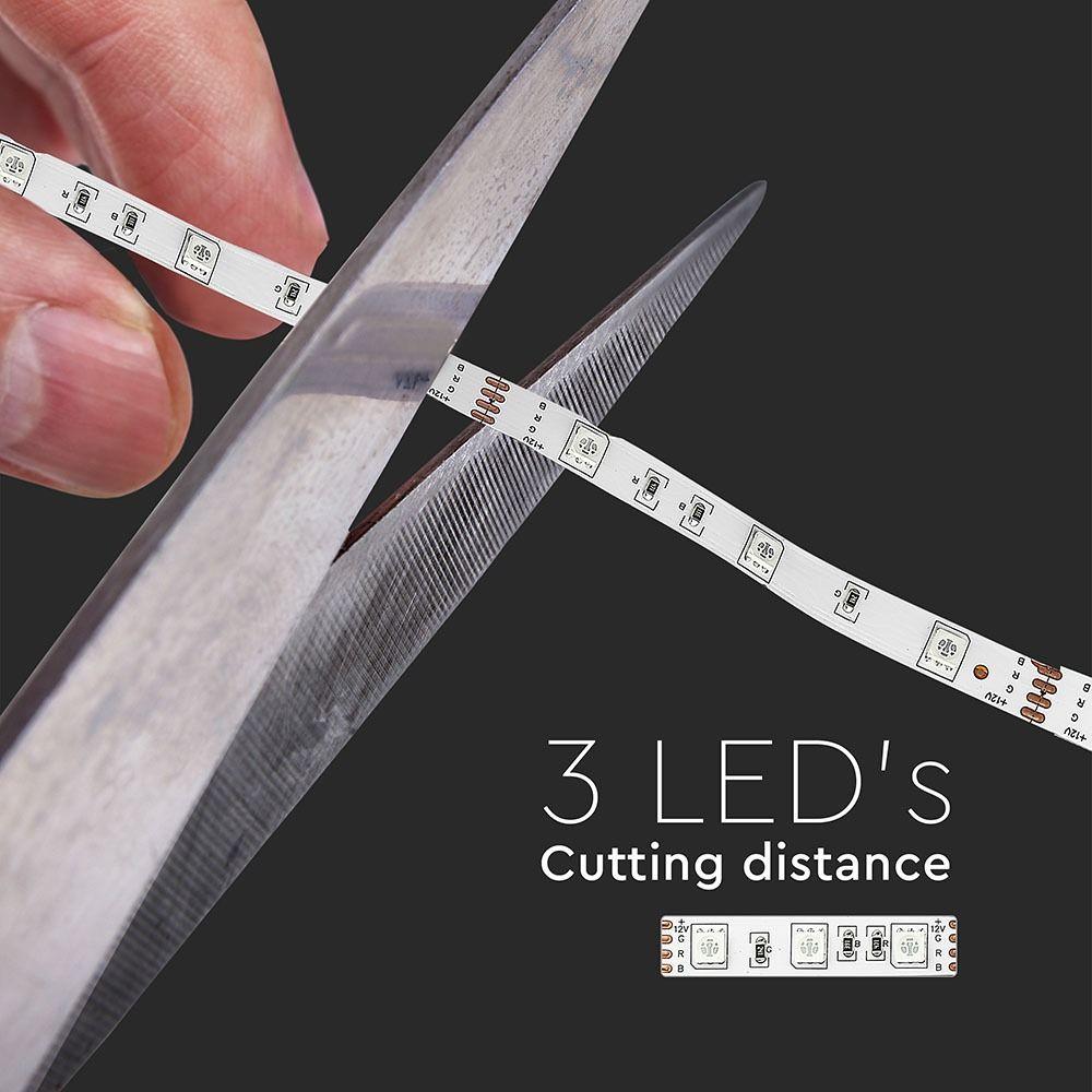Banda LED SMD5050 - 4.8 W/m 30 LED/m RGB IP20