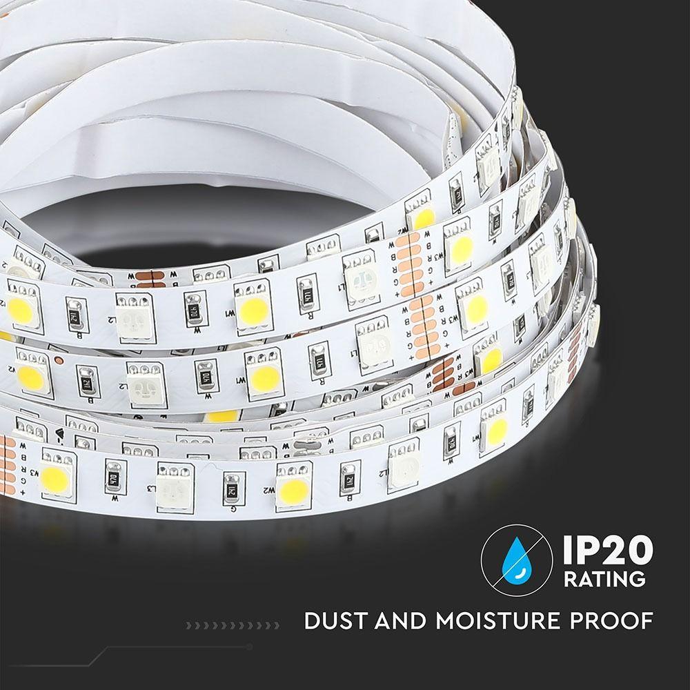 Banda LED SMD5050 - 9.6W/m 60 LED/m RGB+6000K IP20