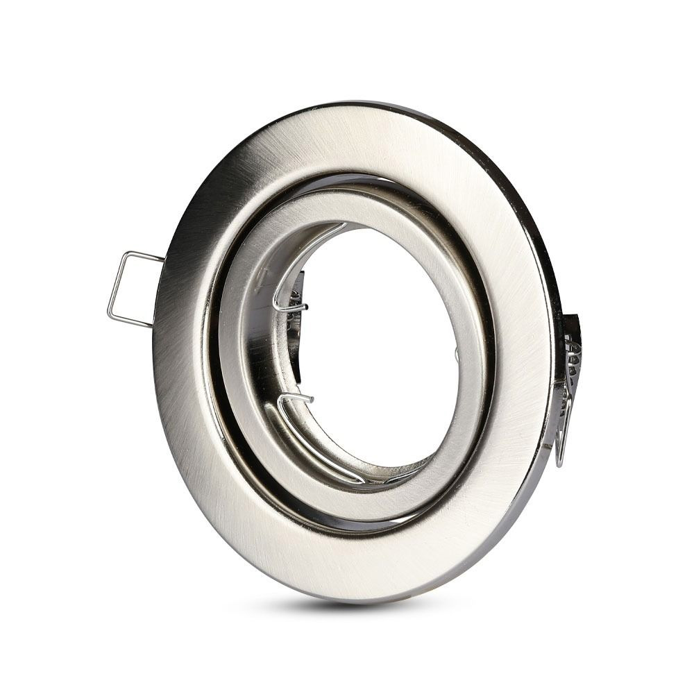Rama Spot GU10 Rotund Orientabila Satin Nickel