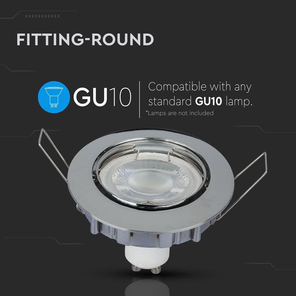 Rama Spot GU10 Rotund Chrome