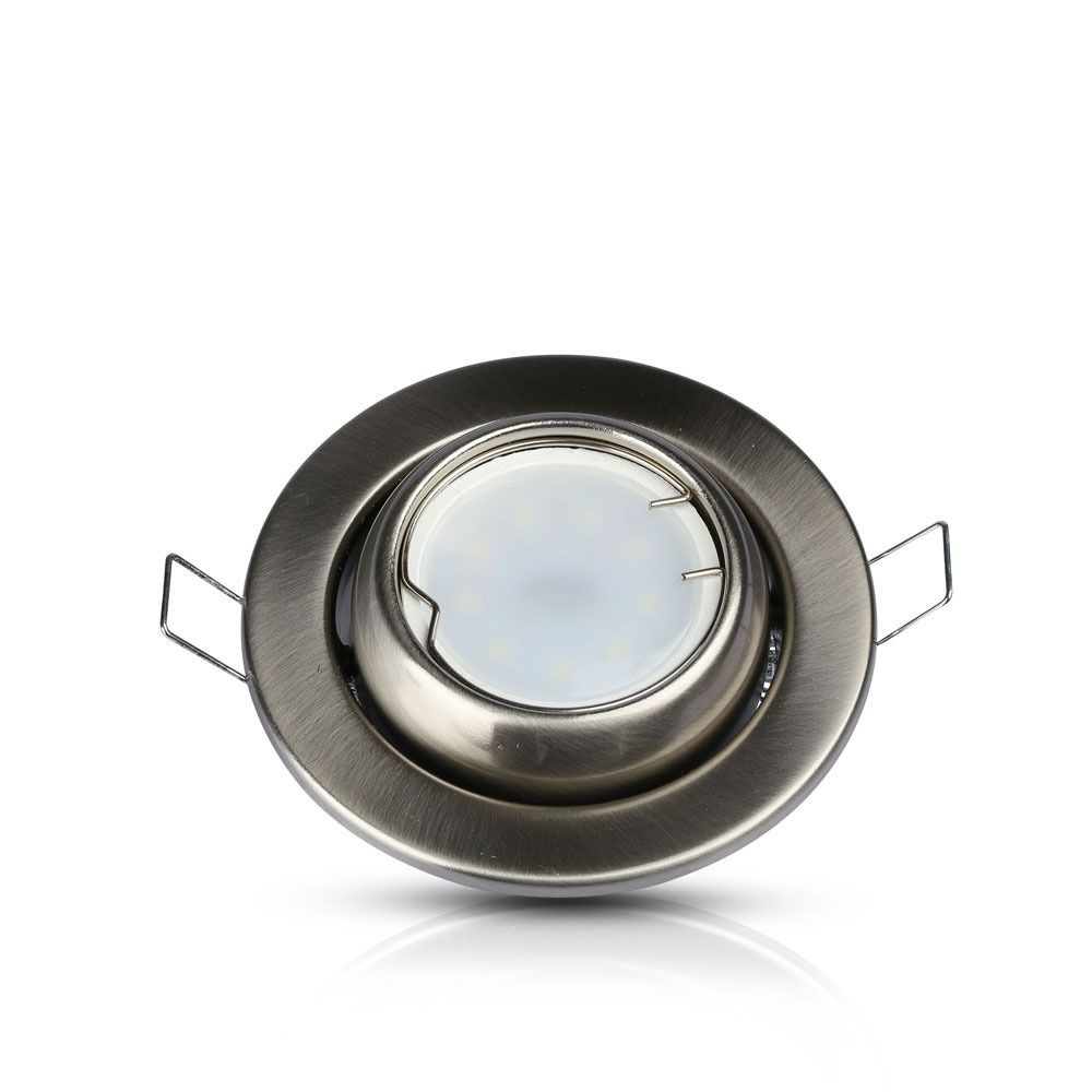 Rama Spot GU10 Rotund Orientabil, Satin Nickel