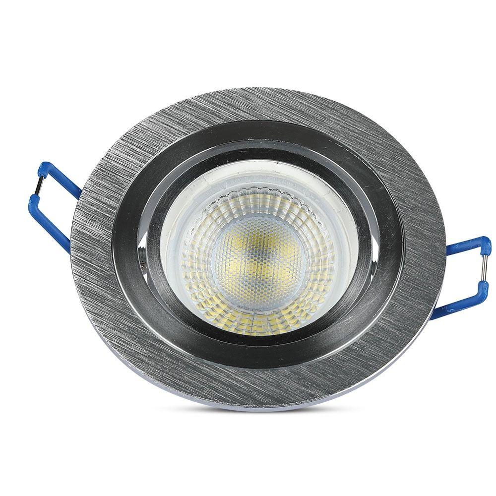 1*Rama Spot GU10 Rotund Aluminium Brush