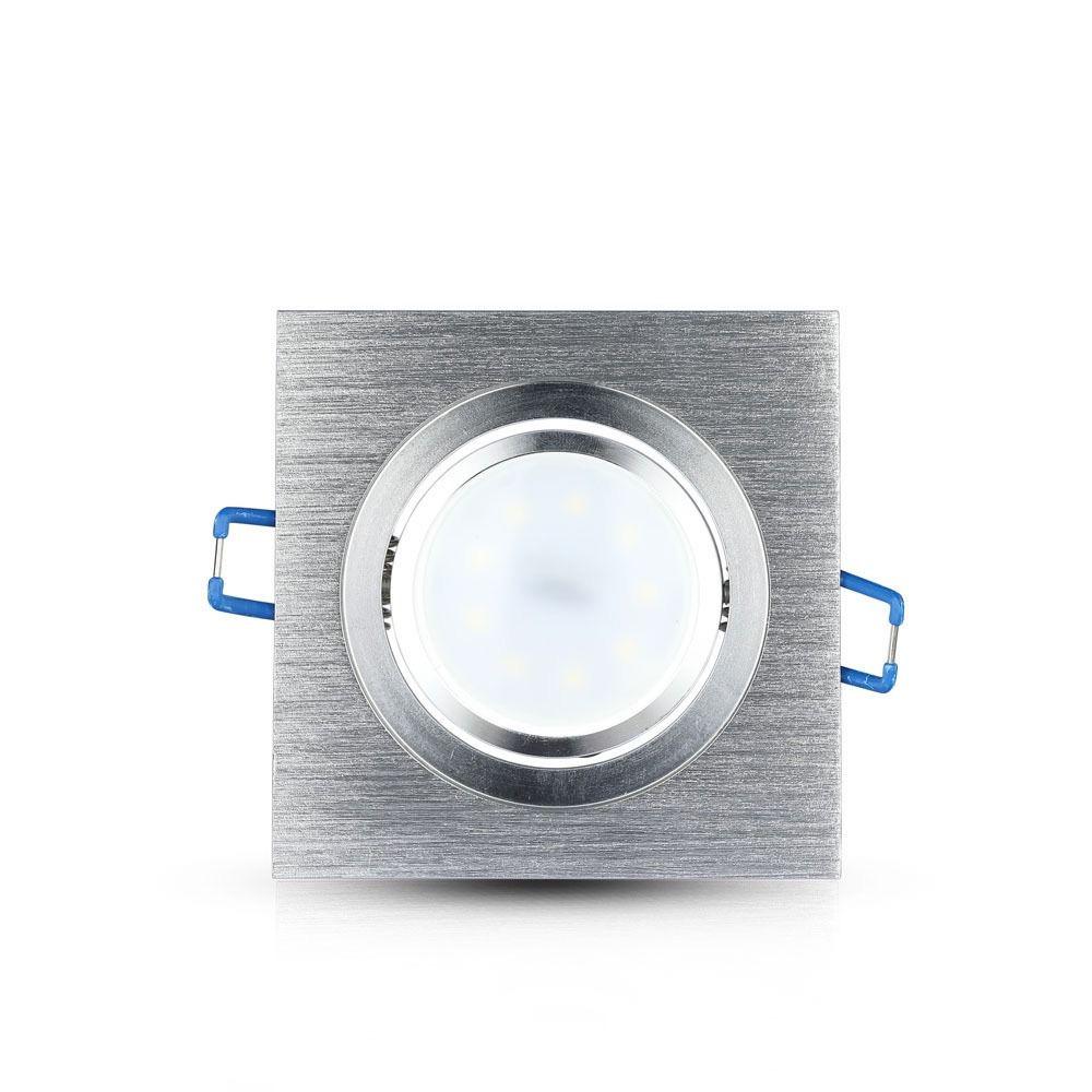 1*Rama Spot GU10 Patrat, Aluminium Brush