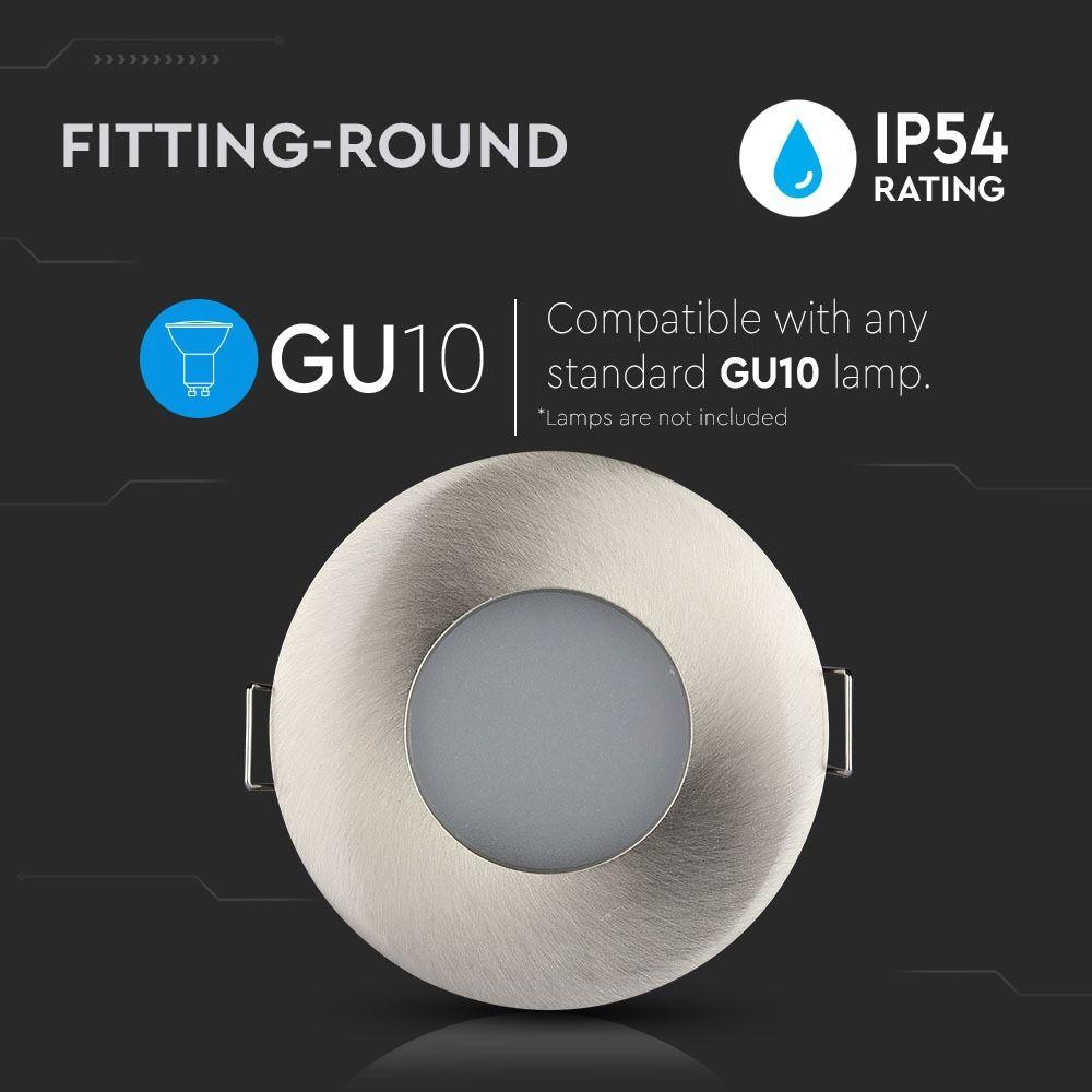 Rama Spot GU10 Mat Rotund Ø=84 Satin Nickel