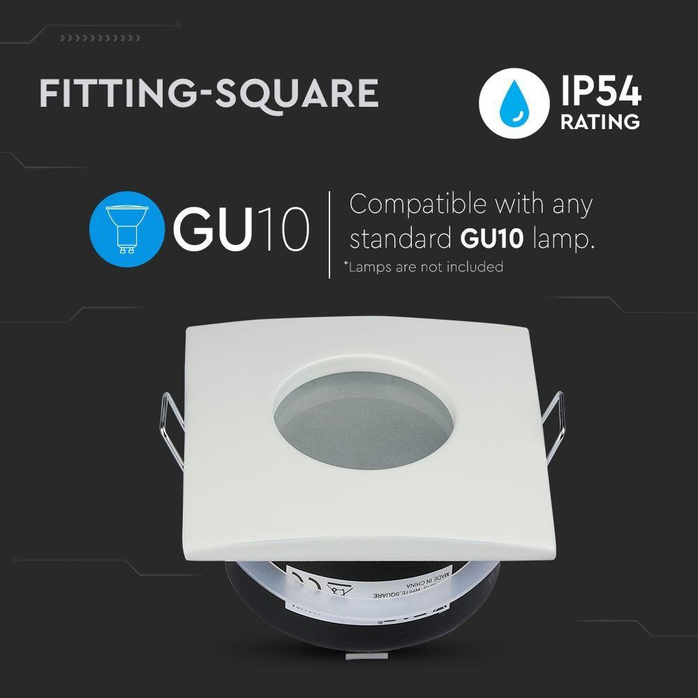 Rama Spot GU10 Mat Patrat Alb