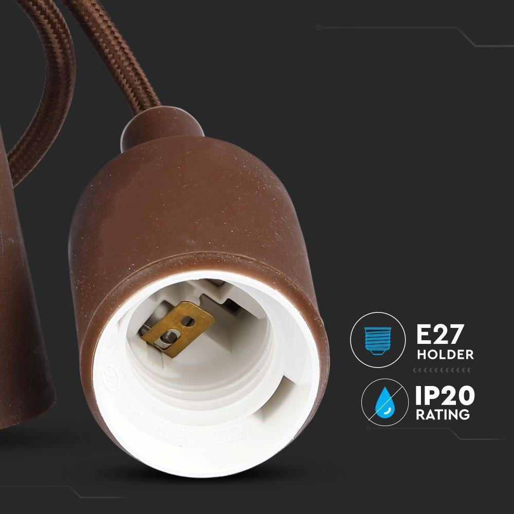 Corp Iluminat Suspendat E27, Maro
