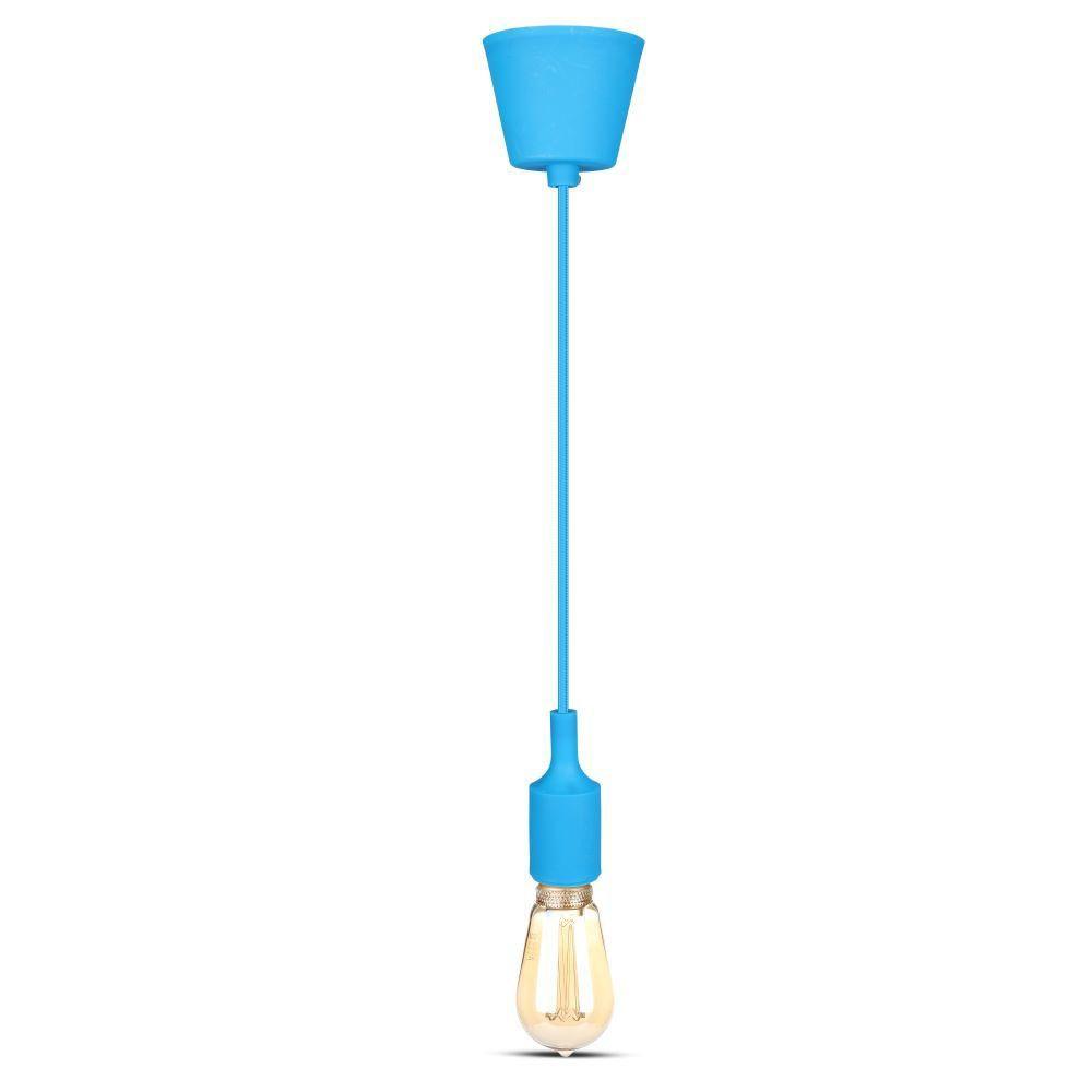 Corp Iluminat Suspendat E27, Albastru