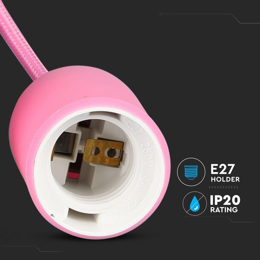 Corp Iluminat Suspendat E27, Roz