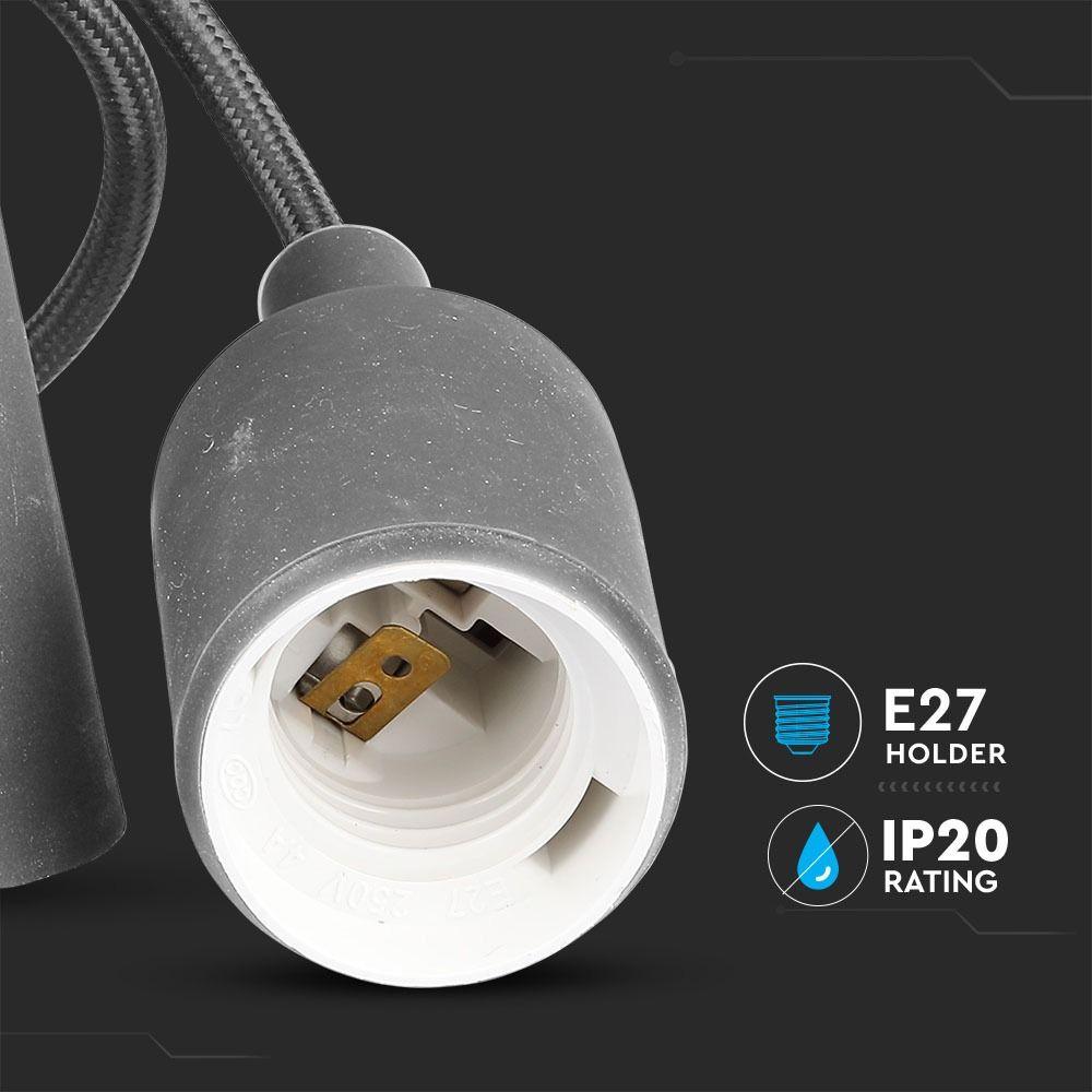 Corp Iluminat Suspendat E27, Gri