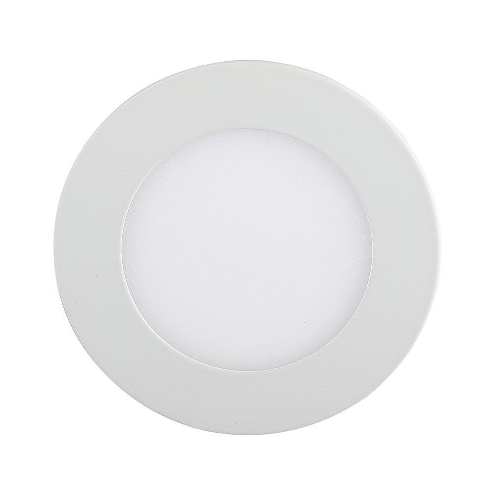 Panou LED 12W Premium, Rotund, 6400K