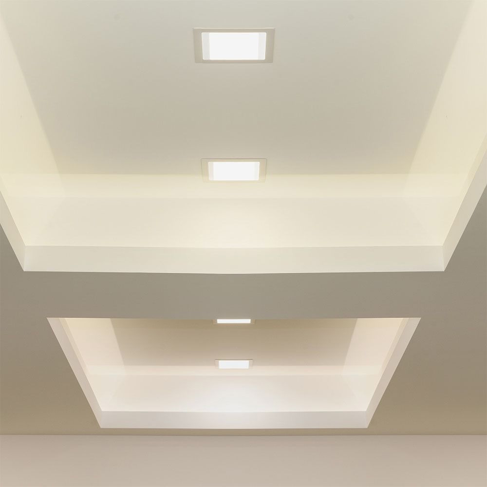 Panou LED 18W Premium, Patrat, 6400K