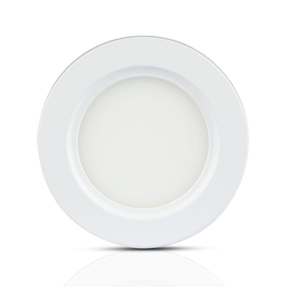 Panou LED 22W, Rotund Aplicat, Lumina Naturala 4500K