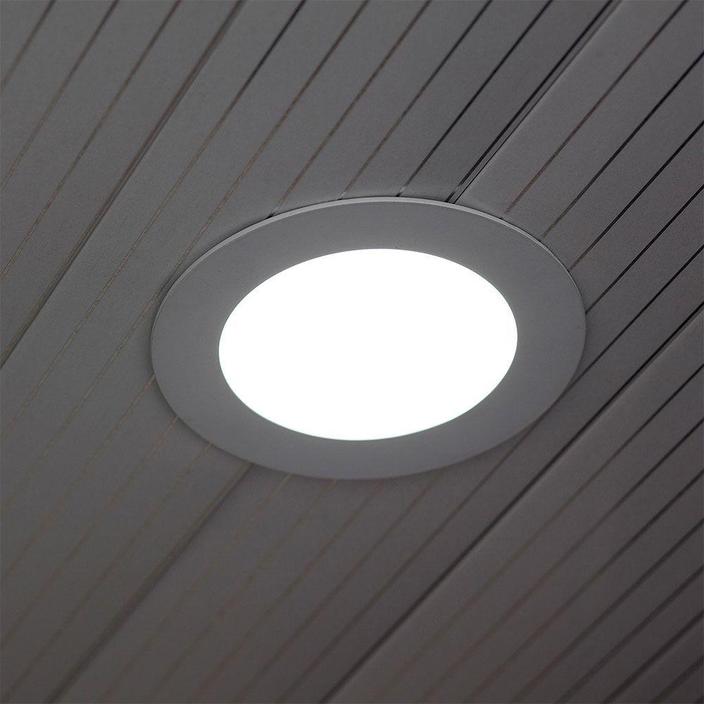 Panou LED Glass 6W, Rotund, 3000K