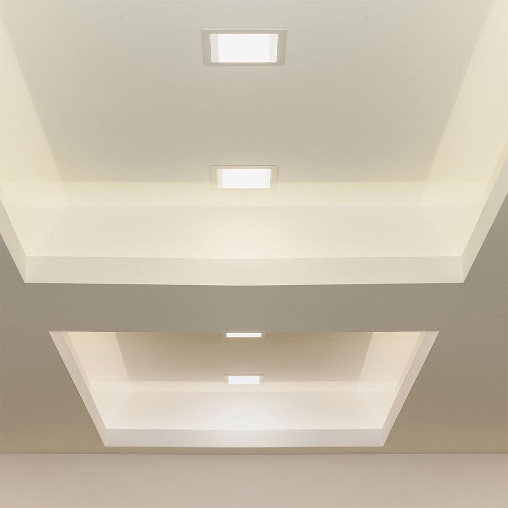 Panou LED Glass 18W, Patrat, 6400K