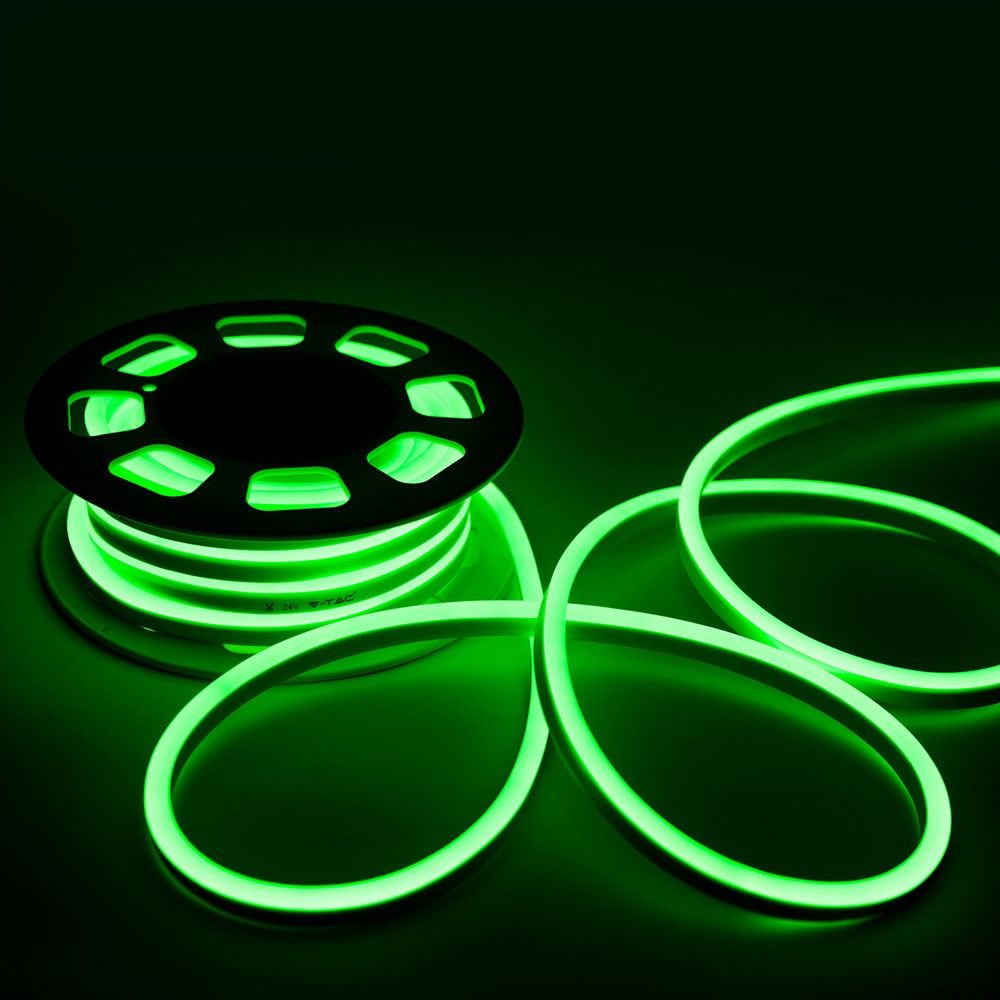 Neon Flexibil 24V, Verde