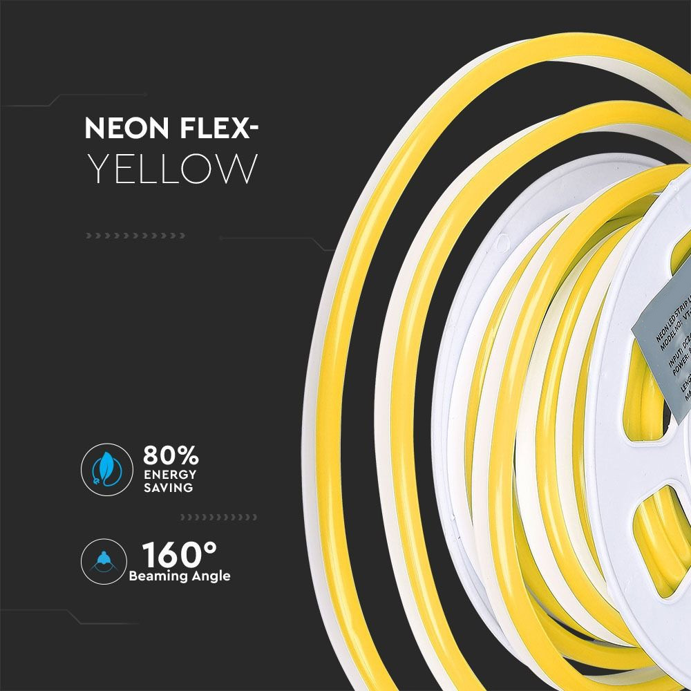 Neon Flexibil 24V, Galben