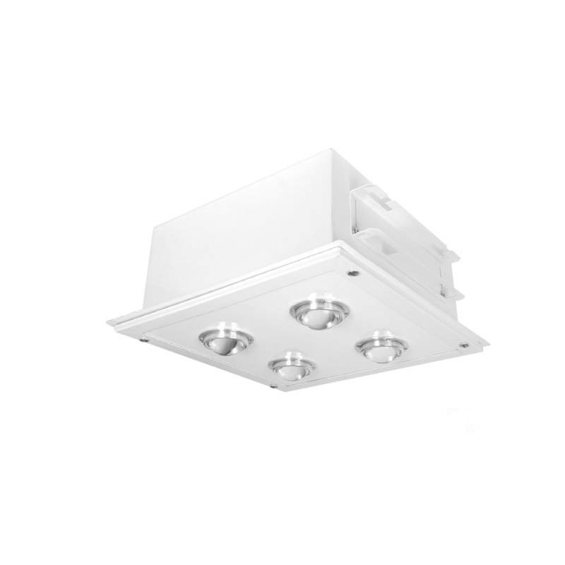 Proiector LED 120W incastrat pentru Benzinarii, 430x430mm, 6000K