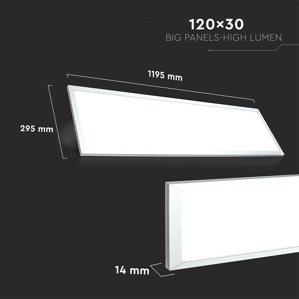 Panou LED 29W, 1200x300mm, A++ 120Lm/W 6400K, Driver Inclus