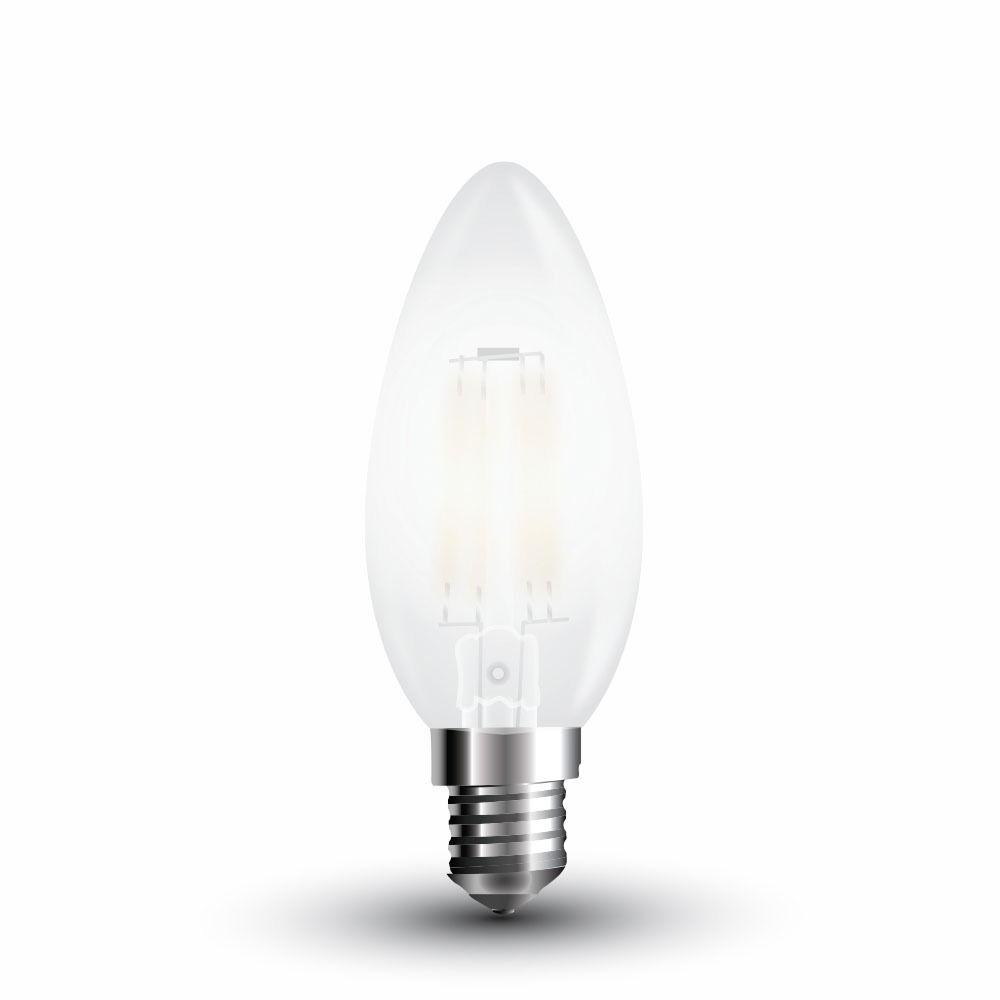 Bec LED - 4W, Filament, E14, Dispersor Semi Transparent, 2700K