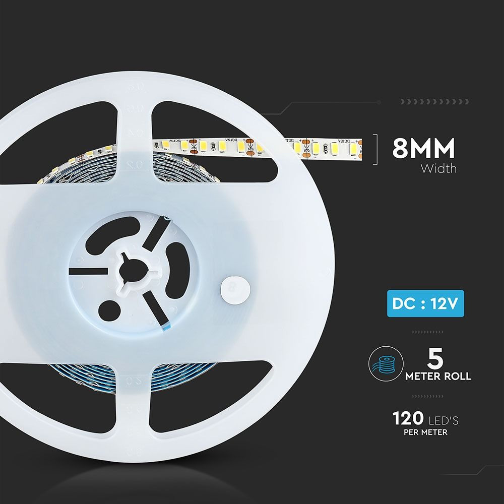 Banda LED SMD5730 - 18 W/m 120 LED/m High Lumen 3000K IP20
