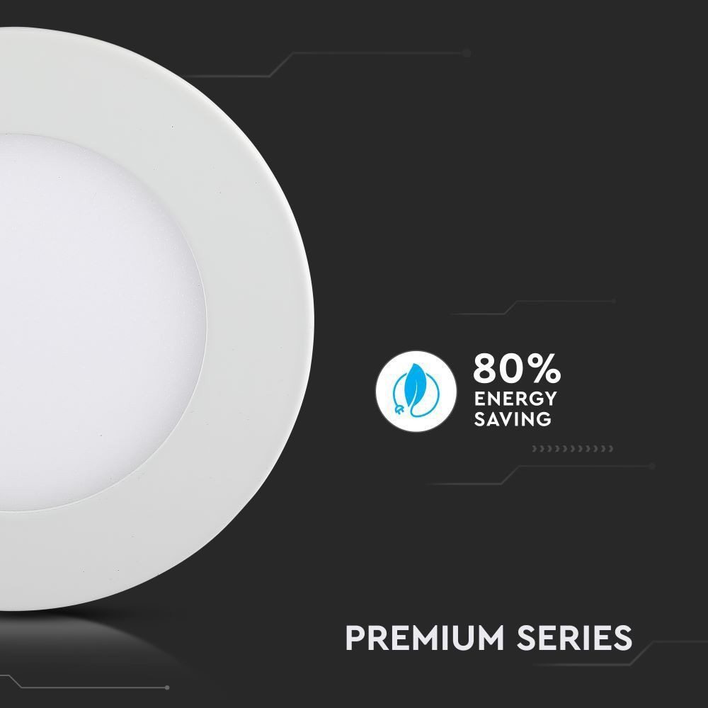 Mini panou LED 3W, Premium - Rotund 3000K