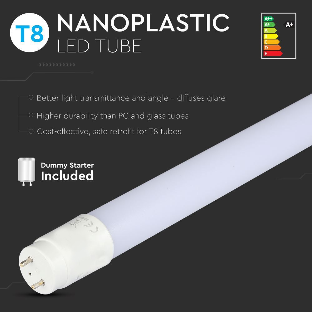 Tub LED T8, 22W, 150 cm, Nano Plastic, Non Rotativ 6400K