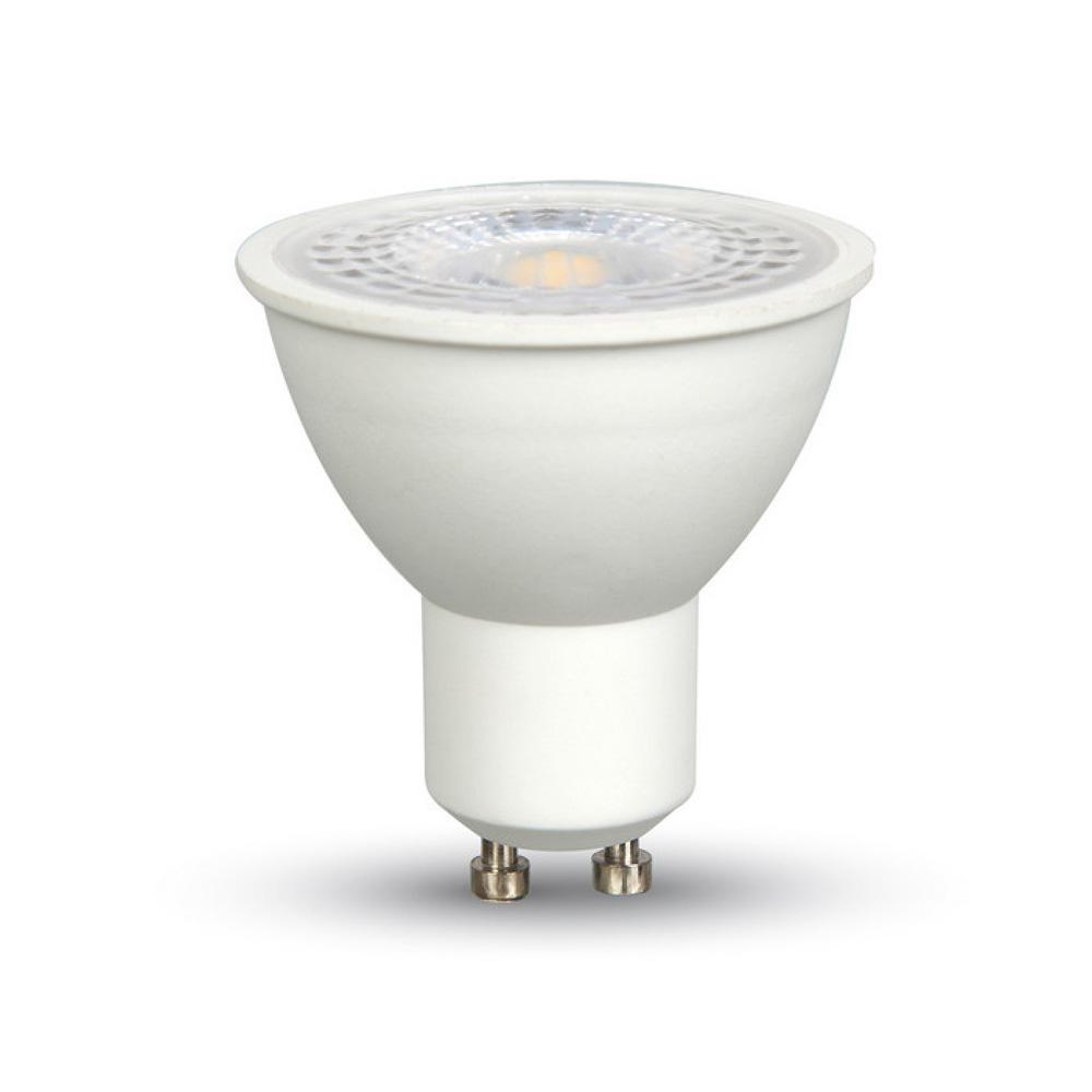 Bec LED Spot - 8W, GU10 SMD Alb Plastic Lentila 38° 4500K