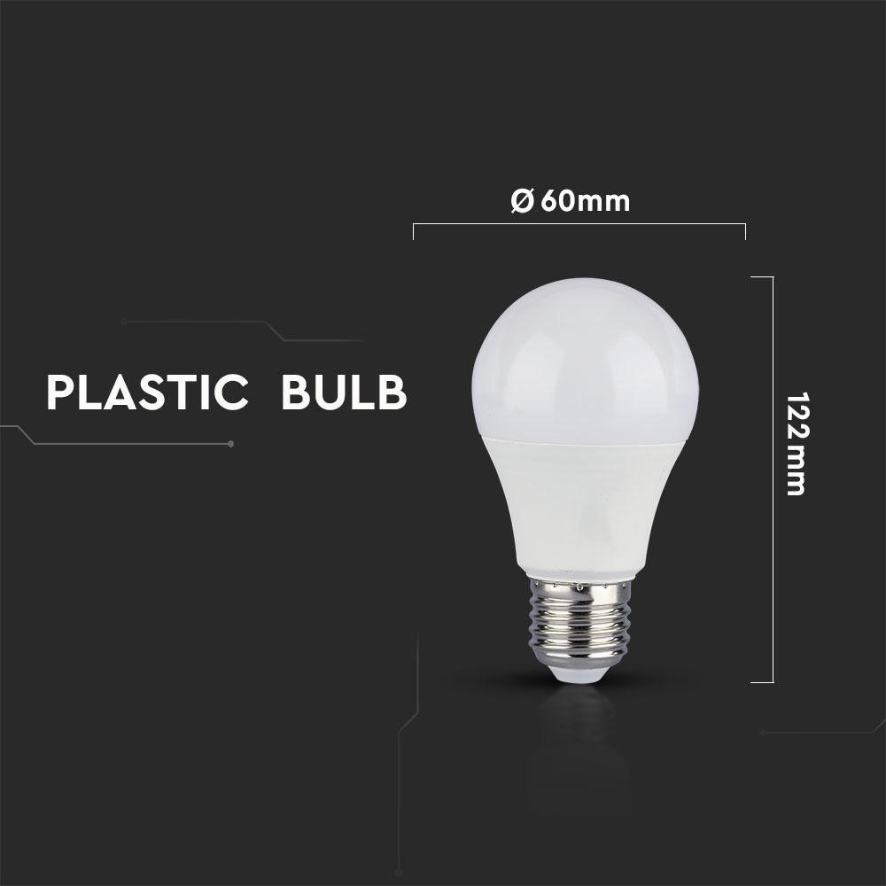 Bec LED - 9W, E27, A60, Thermoplastic 3 Step, Dimabil, 2700K