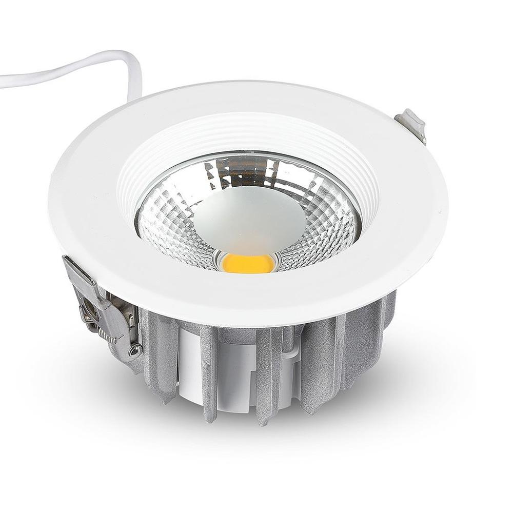 Spot LED 30W, COB Downlight Rotund, 120Lm/W 4000K