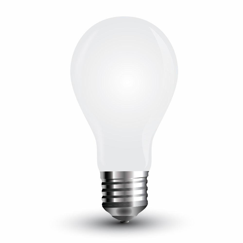 Bec LED - 4W, Filament E27, A60 Dispersor Opac 6400K