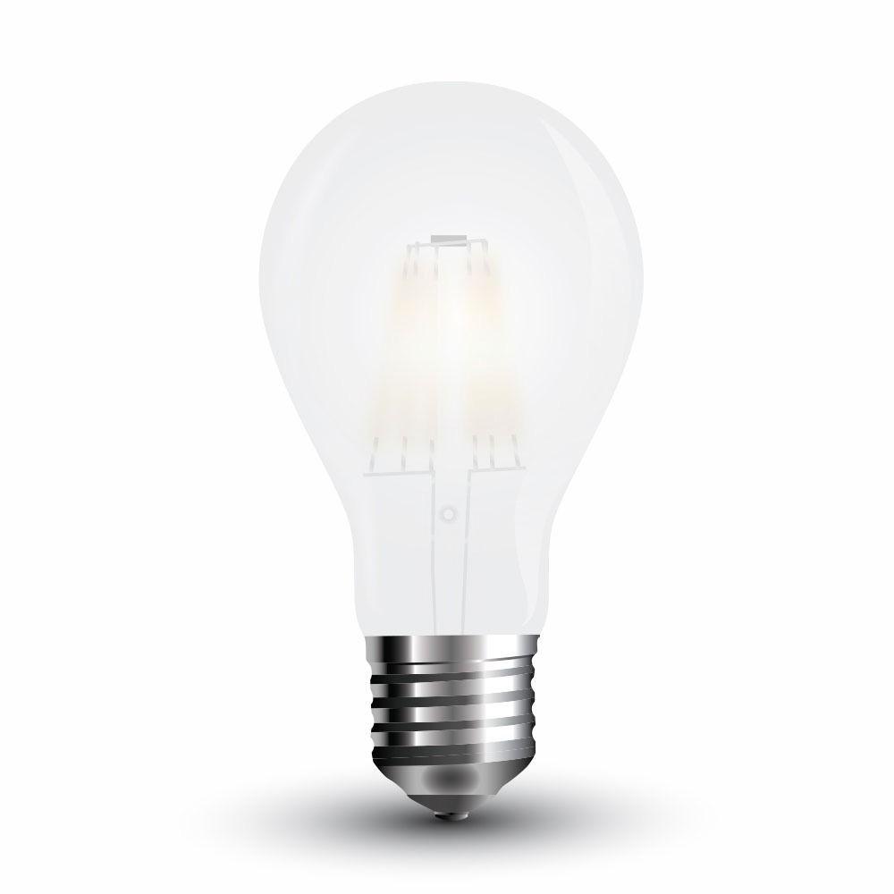 Bec LED - 6W, Filament, E27, A60, Dispersor Semi Transparent 6400K