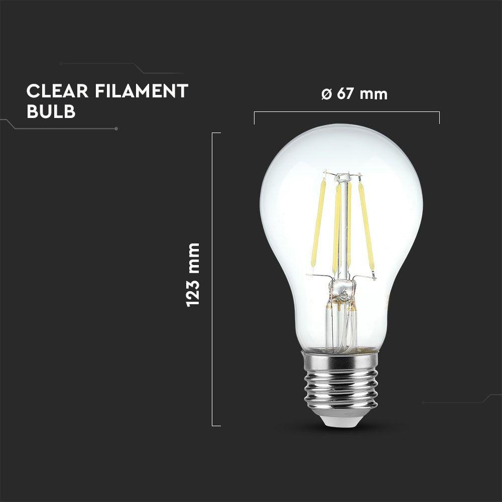 Bec LED - 10W, Filament, E27, A67, 2700K
