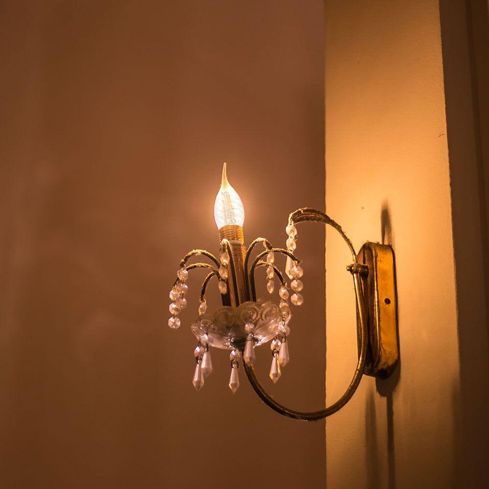 Bec LED - 4W, Filament, E14, Twist Candle Tail, 2700K