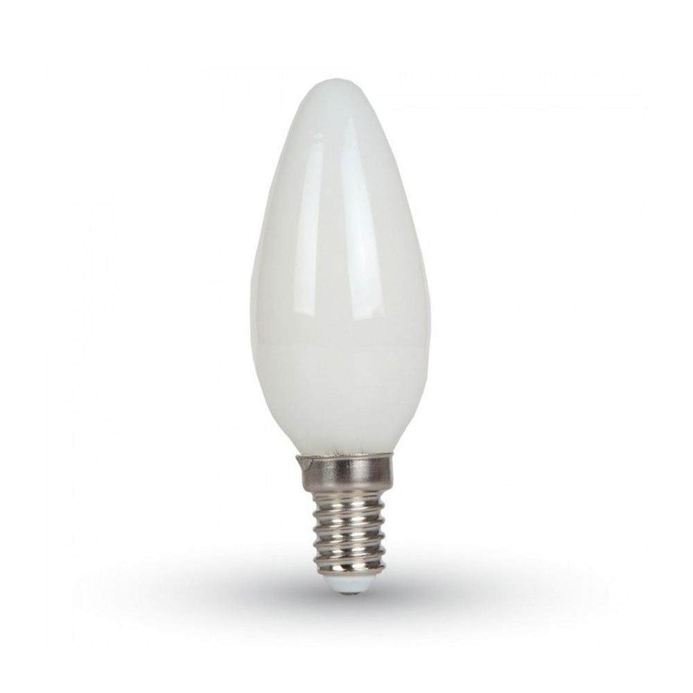 Bec LED - 4W, Filament, E14, Dispersor Opac Candle, 4000K
