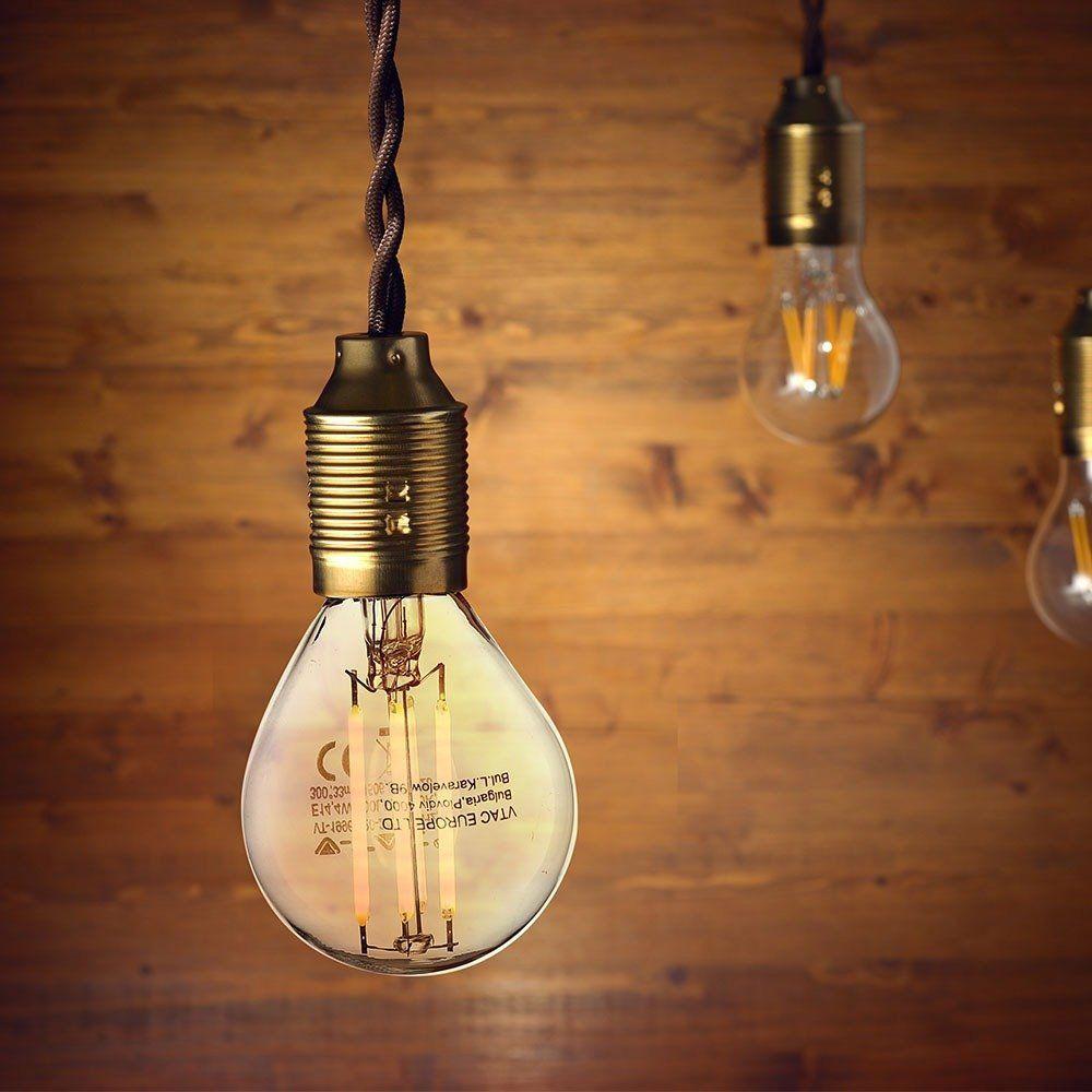 Bec LED - 4W, Filament, E14, P45, 6000K