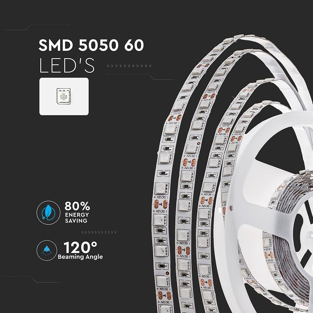 Banda LED SMD5050 - 9.6 W/m 60 LED/m Verde IP20