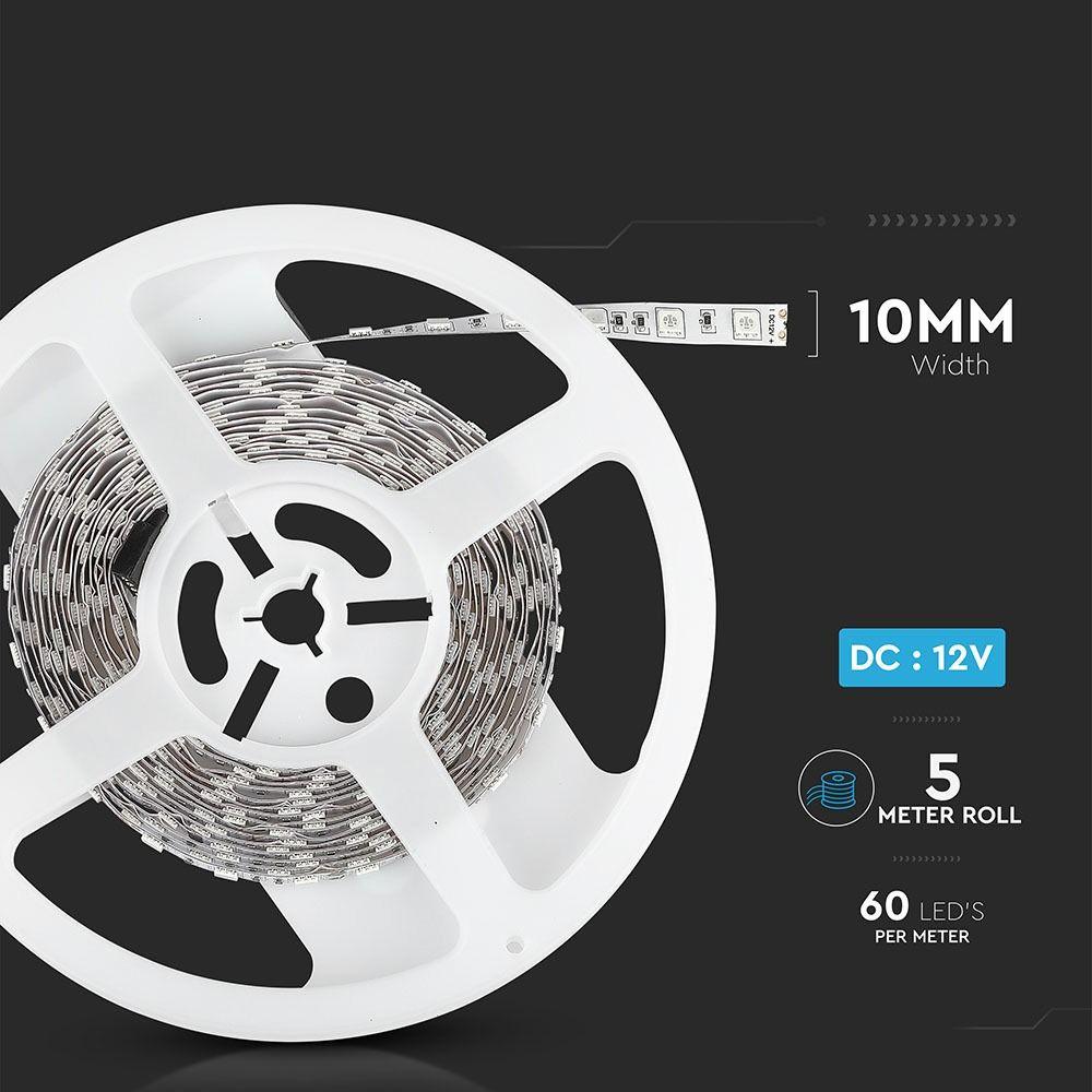 Banda LED SMD5050 - 9.6 W/m 60 LED/m Galben IP20