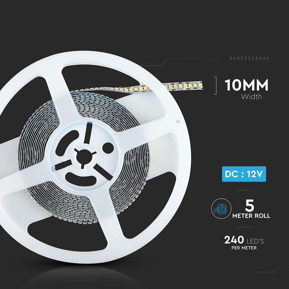 Banda LED SMD2835 - 18 W/m 240 LED/m High Lumen 3000K IP20, 18W/M