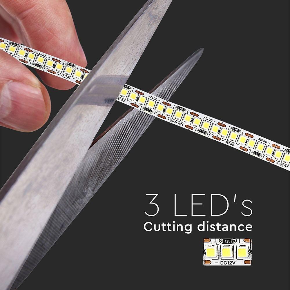 Banda LED SMD2835 - 18 W/m 240 LED/m High Lumen 6400K IP20