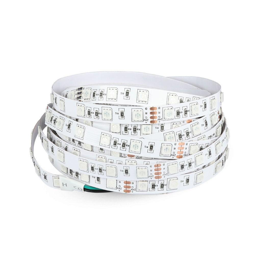 Banda LED SMD5050 - 9 W/m, 60 LED/m 24V, 6400K, IP20