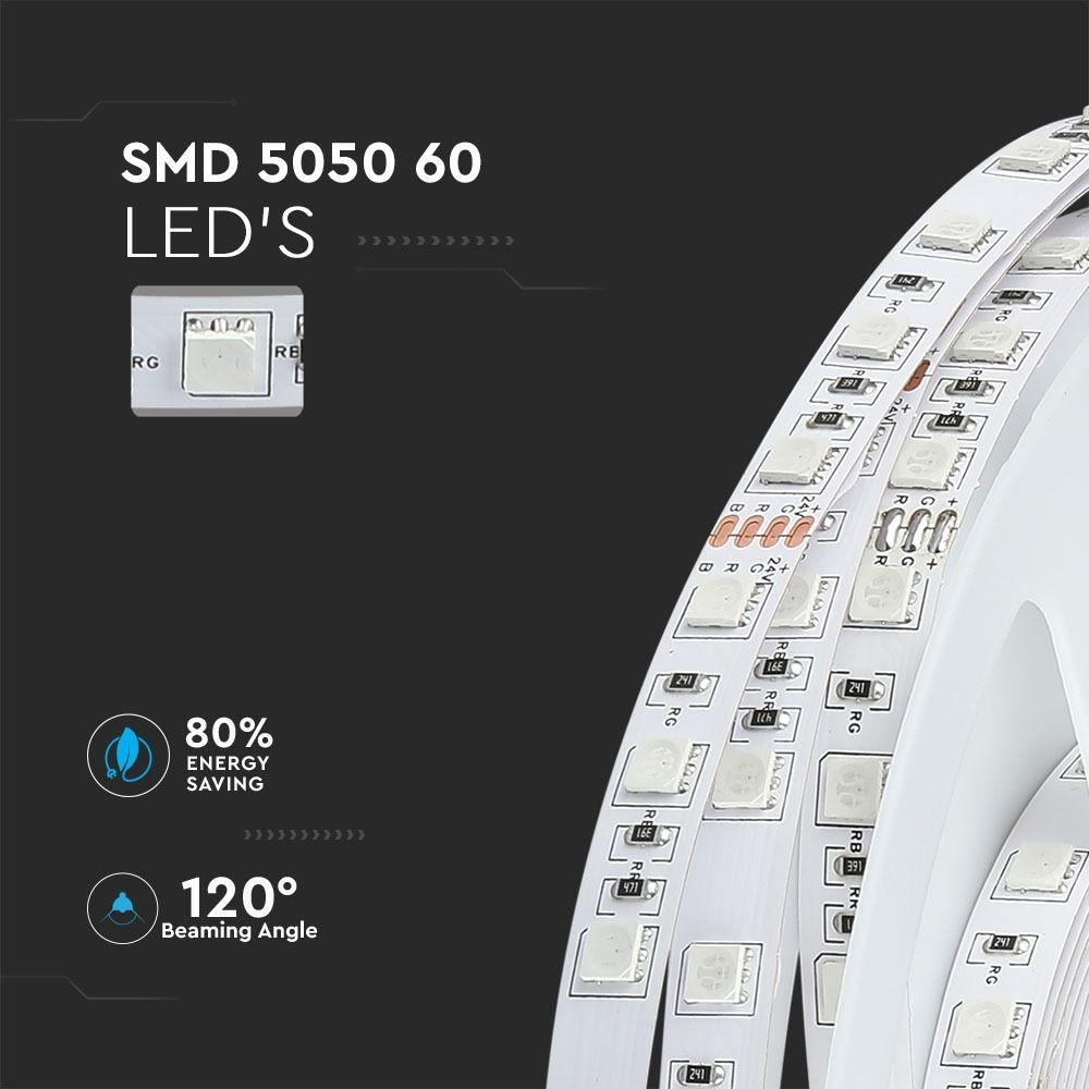 Banda LED SMD5050 - 9 W/m 60 LED/m 24V 4000K IP20