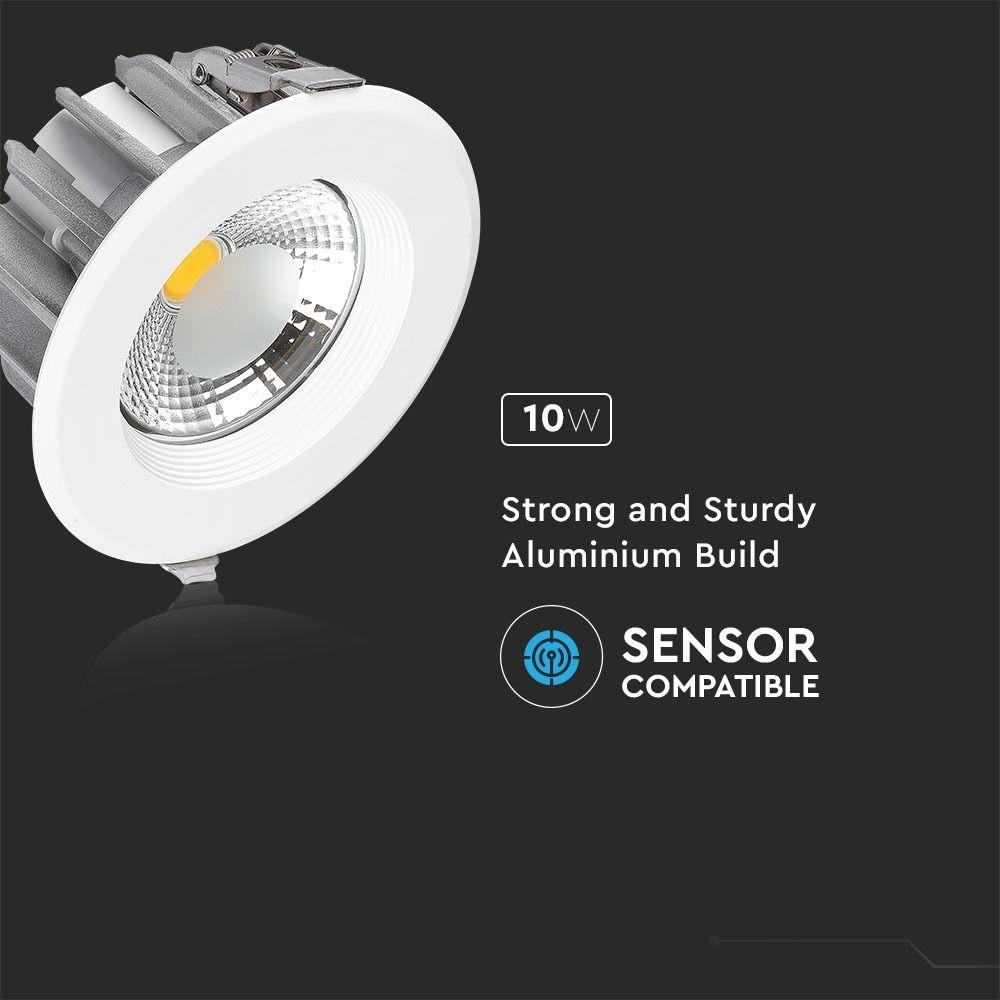 Spot LED 10W, COB Downlight Rotund, A++ 120Lm/W 4000K