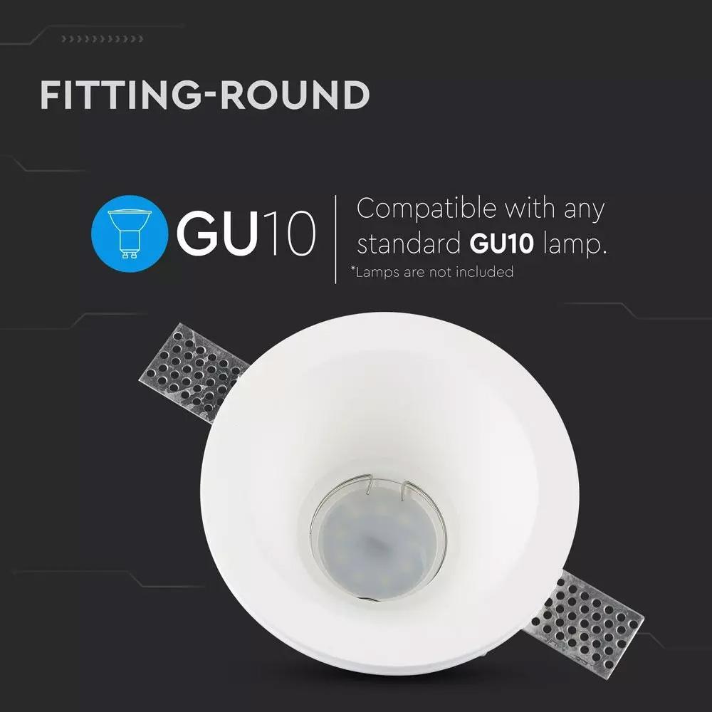 Rama Spot GU10 Rotund Gypsum Alb